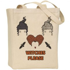 Witches Please Halloween Tote Bag