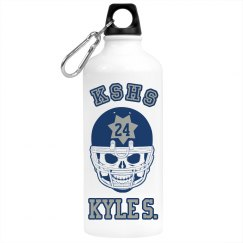 Football Skull Bottle