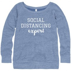 Social Distancing Expert Slouchy Sweater
