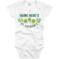 Add Name Baby's First St. Patrick's Day