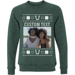 Custom Text Lucky Upload Sweater