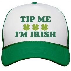 Tip Me I'm Irish Bartender Hat