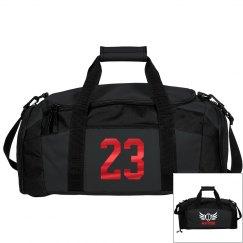 Kevin. Football bag