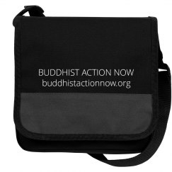 Buddhist Action Now Black Messenger Bag