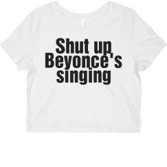 Beyonce's singing