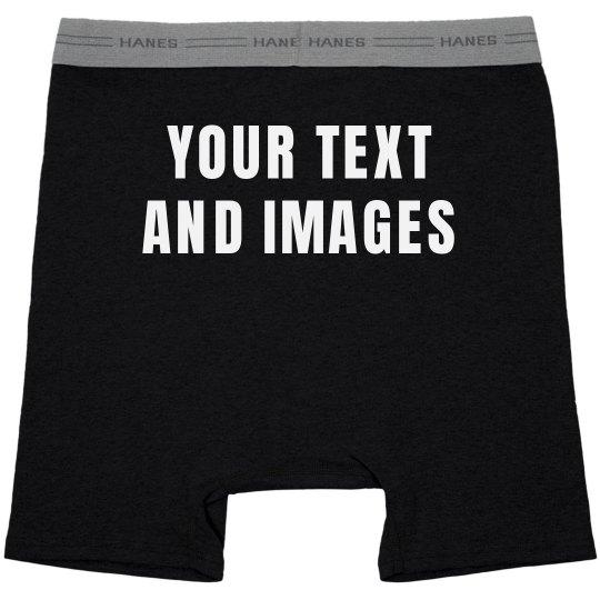 818b47ad260 Custom Mens Boxer Briefs Gift Black Boxer Brief Underwear
