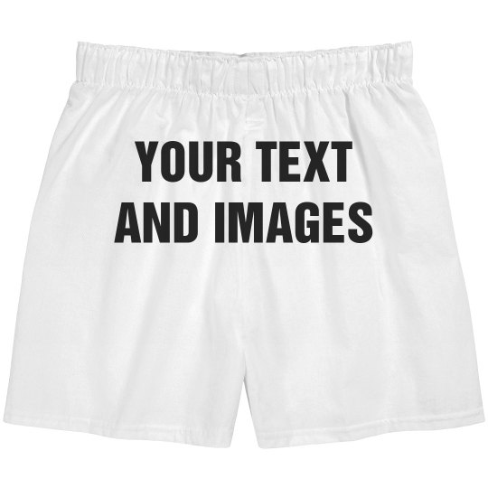 PERSONALISED MEN BOXER SHORTS UNDERWEAR WEDDING GIFT HUSBAND 2ND ANNIVERSARY LEG