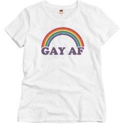 Cute Gay AF Rainbow