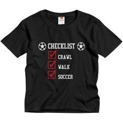 Soccer Checklist: crawl - walk - soccer