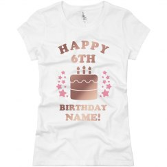 Custom Metallic Birthday