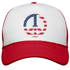 Stars and Stripes Peace Cap