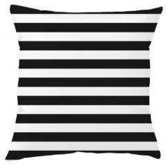 Black And White Stripe Throw Pillow Cover