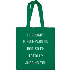 My Non-Plastic bag Is Judging You