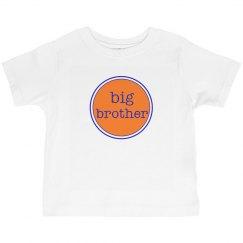 Big Brother Tshirt Orange Navy