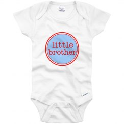 Little Brother Onesie Blue Red