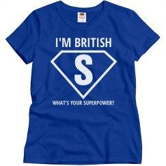 I'm British
