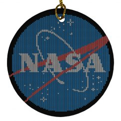 NASA Christmas Sweater Ornament