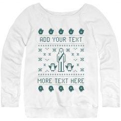 Custom Ladies Ugly Space Friends Sweater