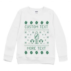 Custom Holiday Friends Text