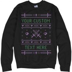 Custom Mine Swords Ugly Sweater