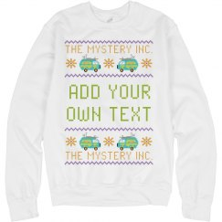 Custom Text Mystery Van Sweater