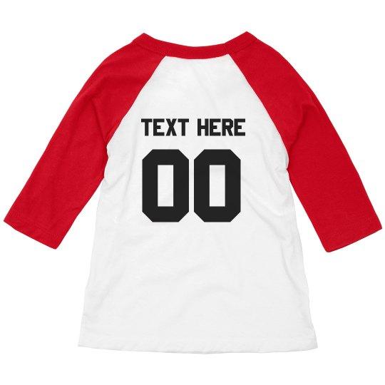 49dd2c425 Custom Sport Toddler Raglan Toddler 3/4 Sleeve Raglan T-Shirt