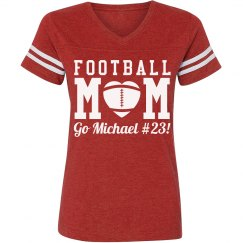 Cute and Sporty Custom Football Mom Shirt