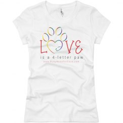 Love is a 4-letter Paw (Women's Slim T-Shirt)