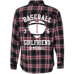 Baseball Girl Flannel