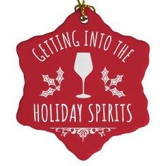 Holiday Spirits Christmas Ornament