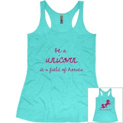 Be a Unicorn ladies tank