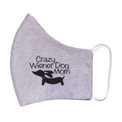 Crazy Wiener Dog Mom Plus Size Sweatshirt