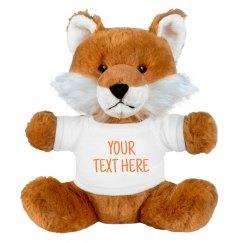 Customizable Stuffed Fox