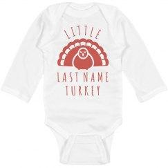 Custom Little Turkey Family Text