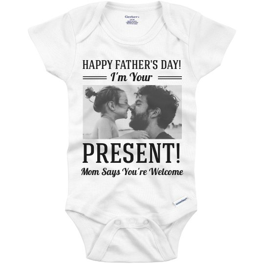 3d2be51b1 Funny Custom Father's Day Outfit Infant Onesie
