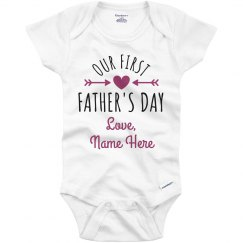 First Father's Day Custom Name