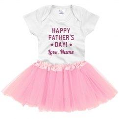 Happy Father's Day Custom Baby Tutu
