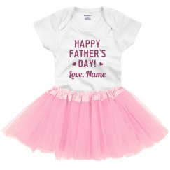 Happy Father's Day Custom Baby Tutu