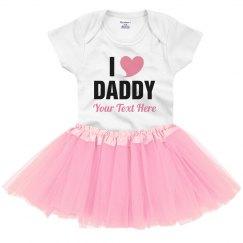 I Love Dad Custom Father's Day