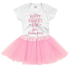 Personalized Happy Father's Day Baby Outfit