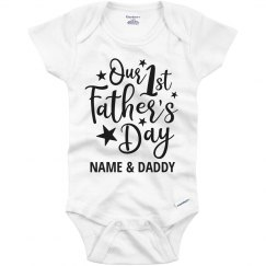 1st Father's Day Outfit Custom Name