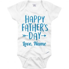 Baby Boy Father's Day Outfit Custom
