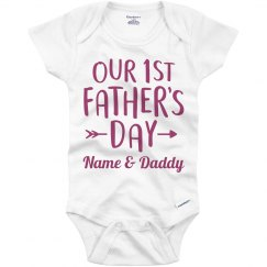 Daddy & Custom Name 1st Fathers Day
