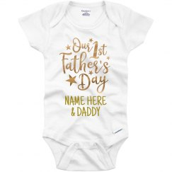 Metallic 1st Father's Day Add Name