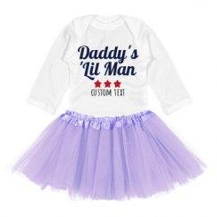 Infant Long Sleeve Baby Rib Bodysuit with Tutu