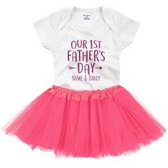 First Father's Day Custom Tutu Onesie