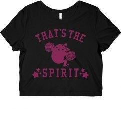 Cheerleading That's The Spirit Neon Tee