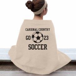 Cardinal Soccer Blanket