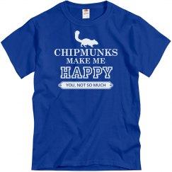 Chipmunks make me happy
