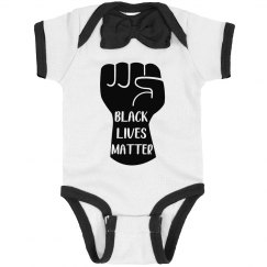 Black Lives Matter Infant Onsie Bow Tie Bodysuit